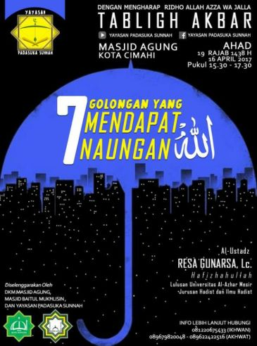 ustadz resa di masjid Agung cimahi,15-04-2017