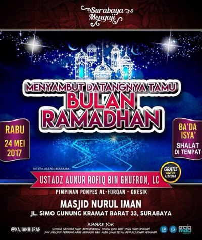 Menyambut datangnya tamu Bulan Ramadhan
