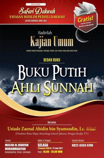 Buku putih Ahlussunnah Ustadz Zainal Abidin
