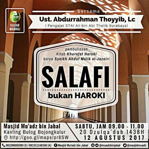 Salafi bukan Haroki