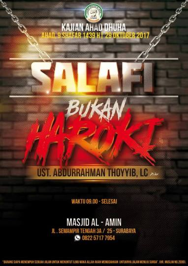 Salafi bukan Haroki di Surabaya