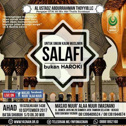 Salafy bukan Haroki baru