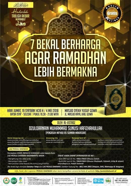 7 Bekal Ramadhan