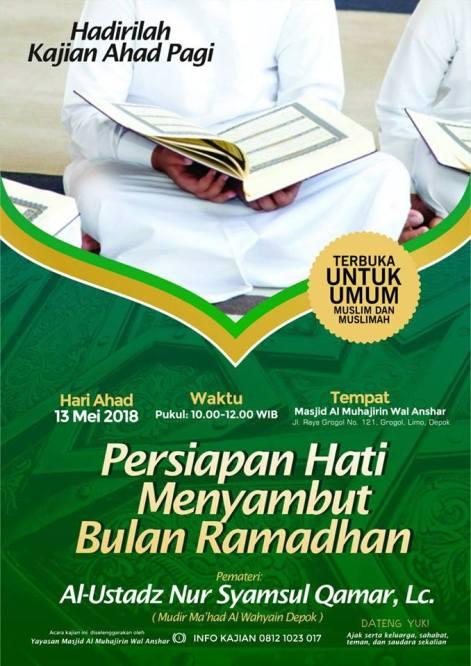 persiapan hati menyambut bulan ramadhan