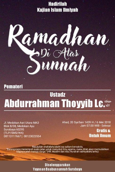 Ramadhan dengan Sunnah