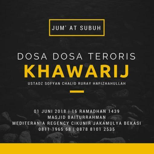 Dosa Dosa Teroris Khawarij